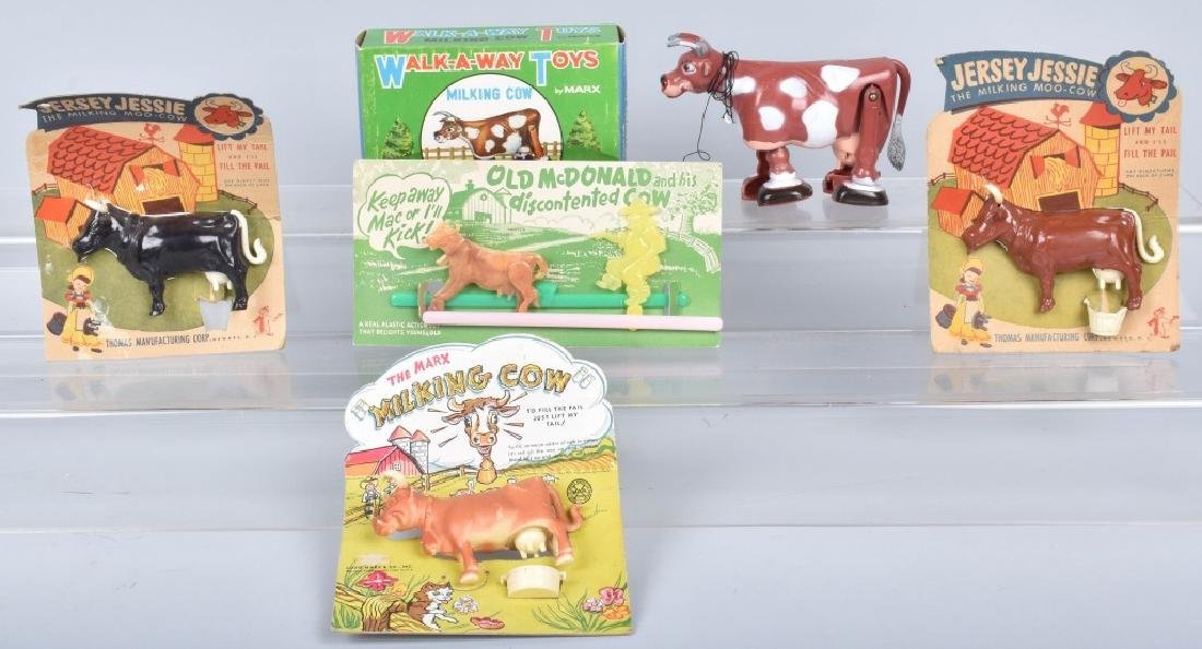 MARX PLASTIC COW TOYS, BOXED, and MORE