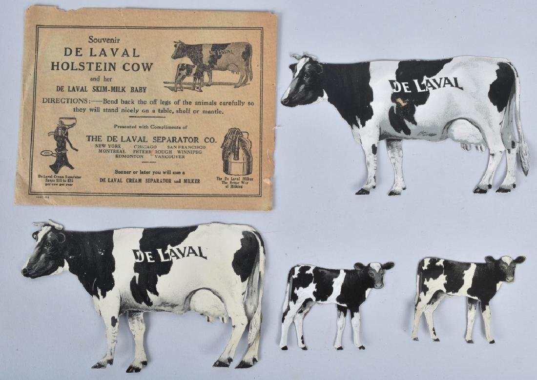 4-DELAVAL TIN ADVERTISING COWS