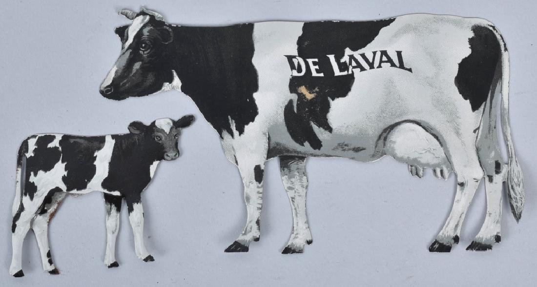 4-DELAVAL TIN ADVERTISING COWS - 2