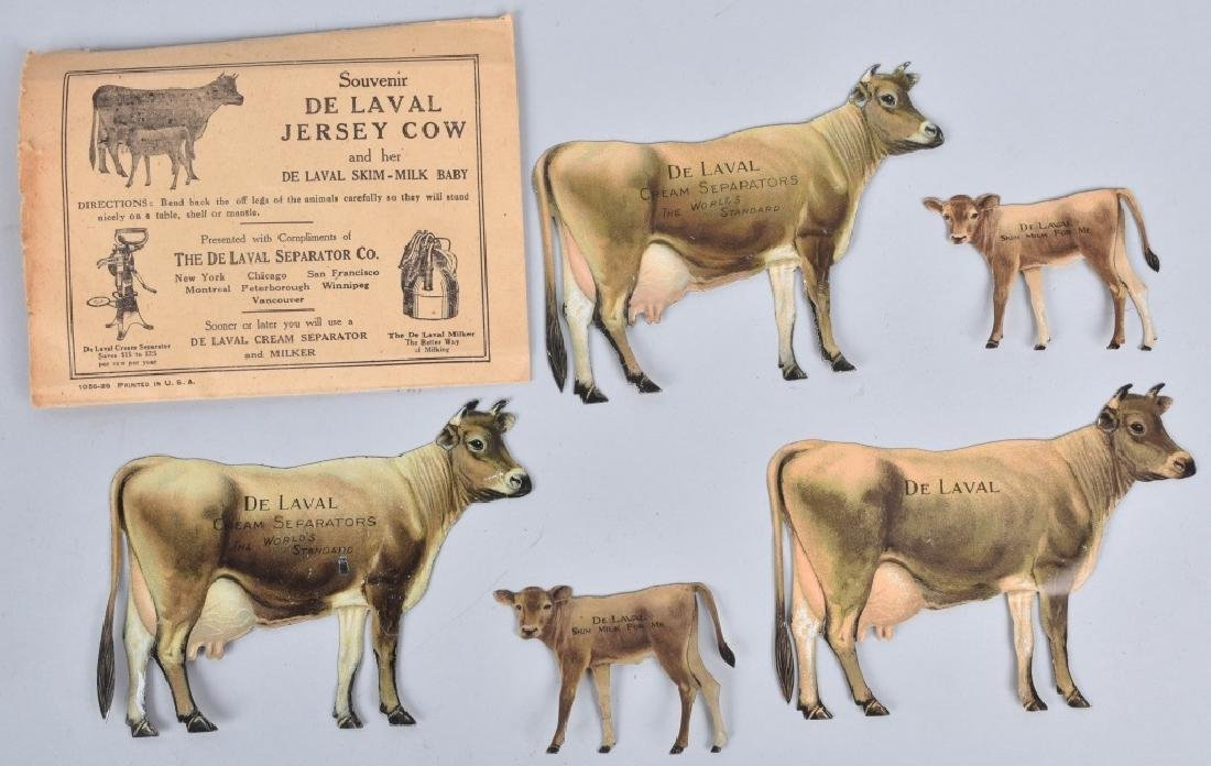 5-DELAVAL TIN ADVERTISING COWS