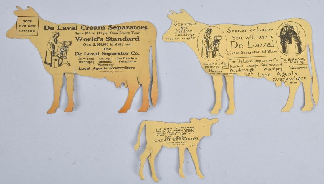 5-DELAVAL TIN ADVERTISING COWS - 3