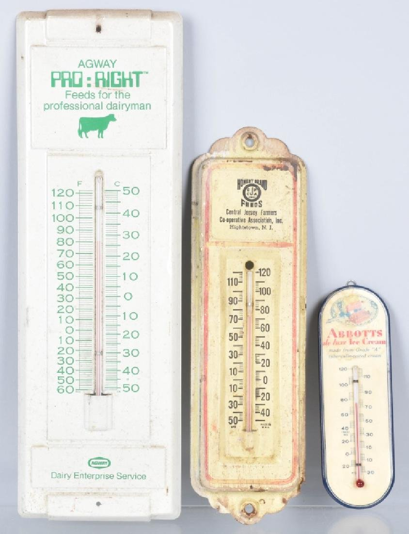 3-VINTAGE ADVERTISING THERMOMETERS