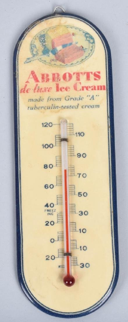 3-VINTAGE ADVERTISING THERMOMETERS - 2