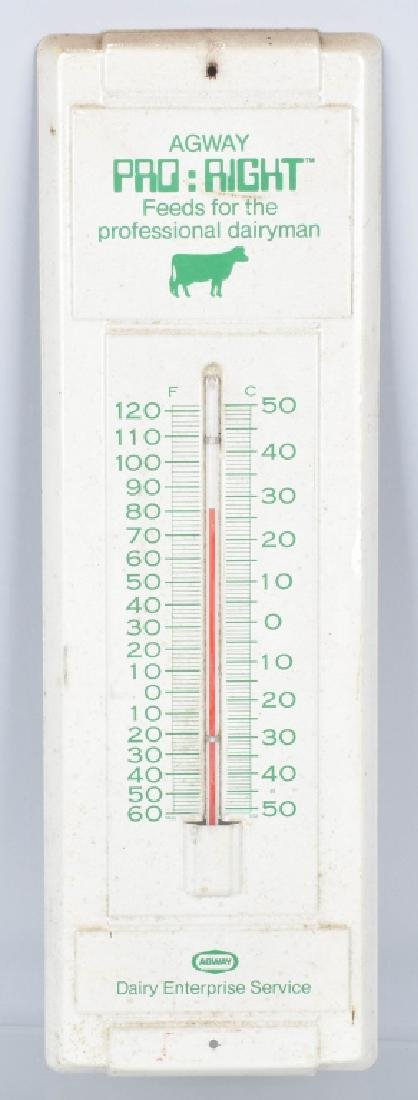 3-VINTAGE ADVERTISING THERMOMETERS - 4