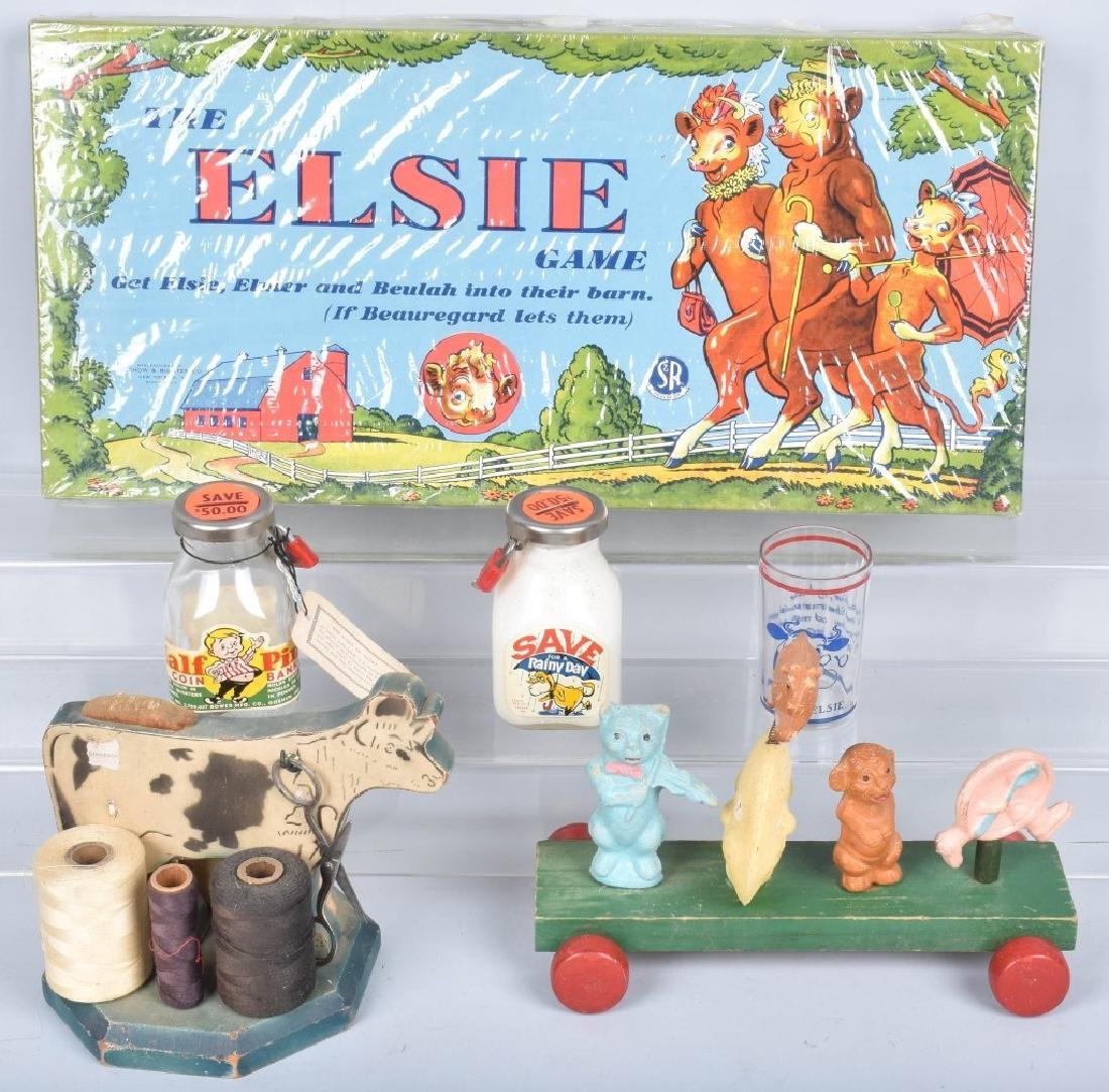 VINTAGE DAIRY TOYS, BANKS and MORE