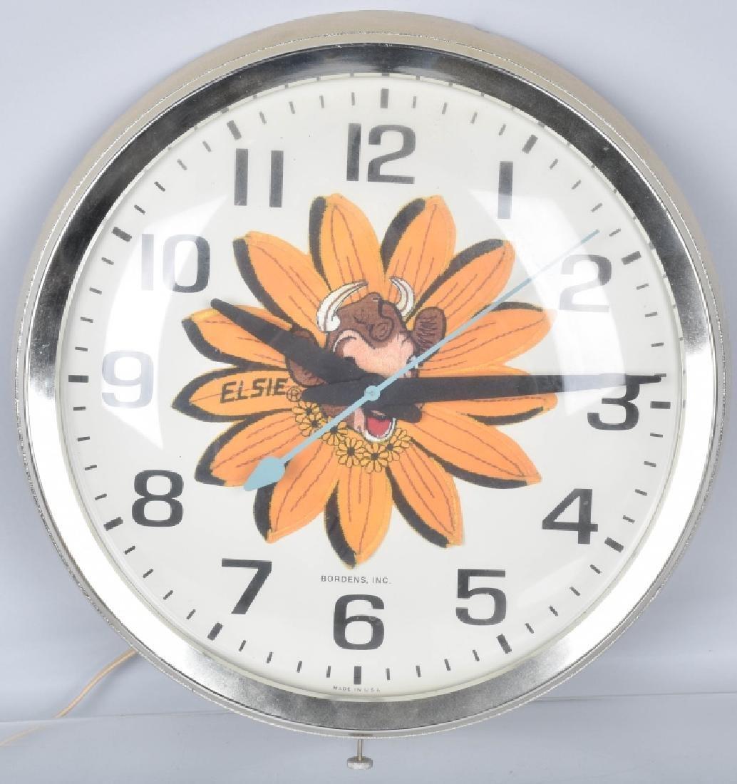 2-VINTAGE DAIRY ADVERTISING CLOCKS - 2