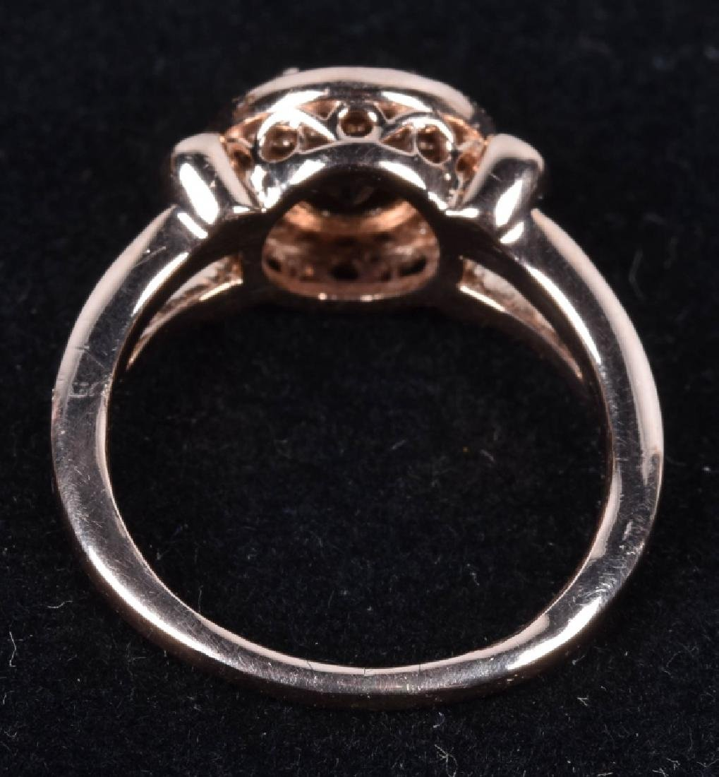 GARO 14KT ROSE GOLD BLACK & WHITE DIAMOND RING - 2