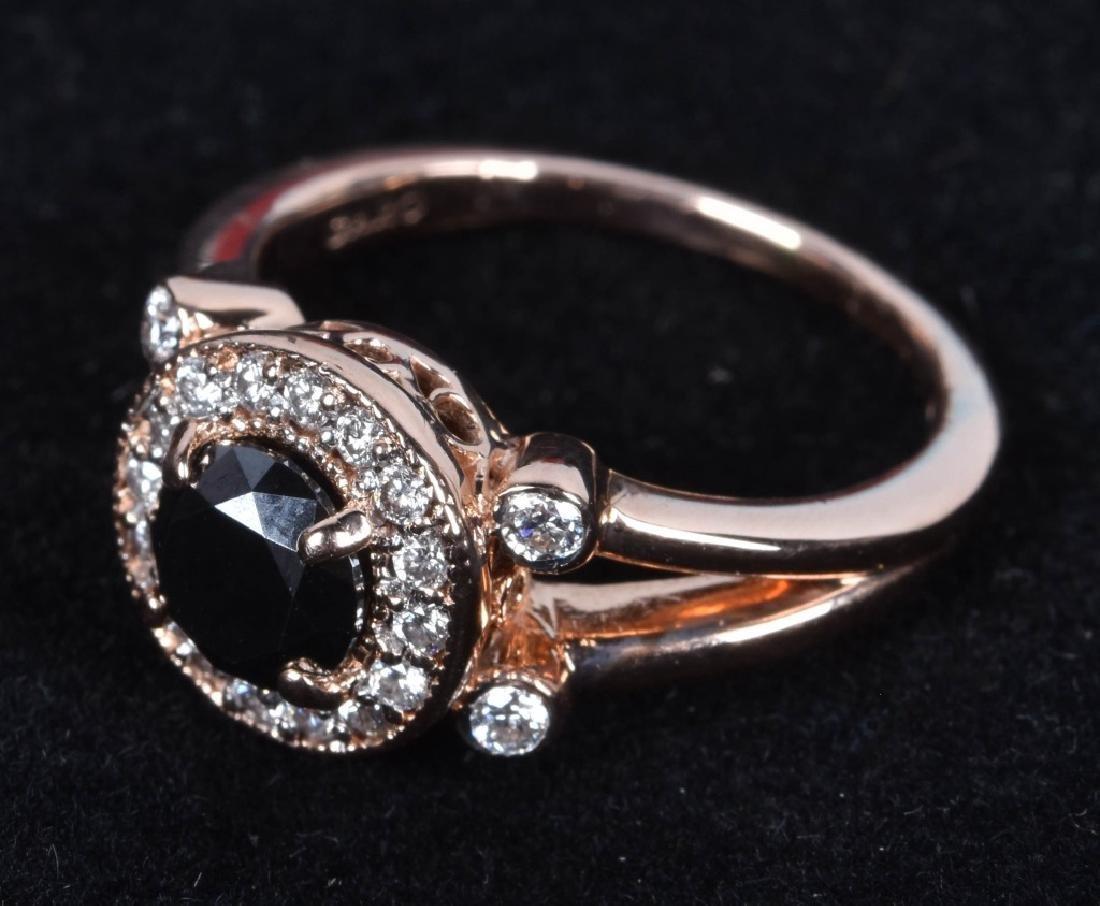 GARO 14KT ROSE GOLD BLACK & WHITE DIAMOND RING - 4