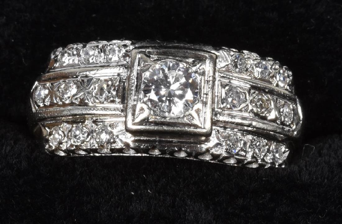 VINTAGE 14kt WHITE GOLD & VS I DIAMOND RING
