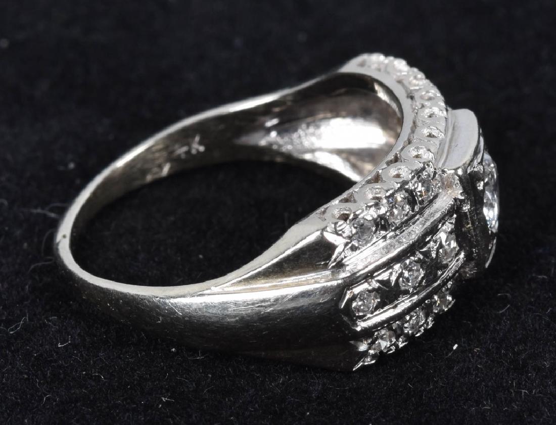VINTAGE 14kt WHITE GOLD & VS I DIAMOND RING - 3