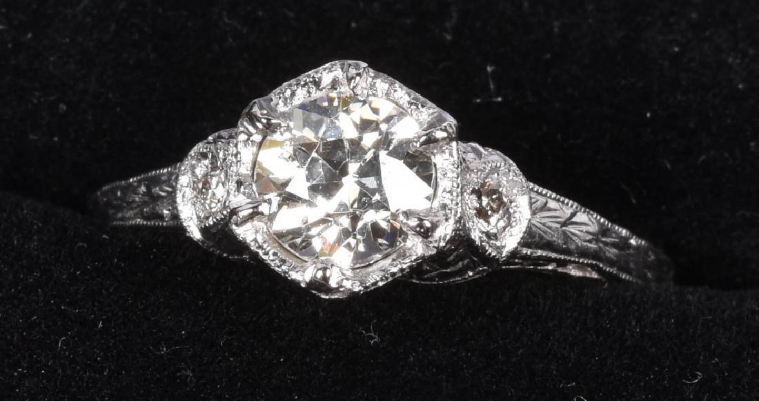 18kt GOLD EDWARDIAN FILIGREE 3/4CT DIAMOND RING