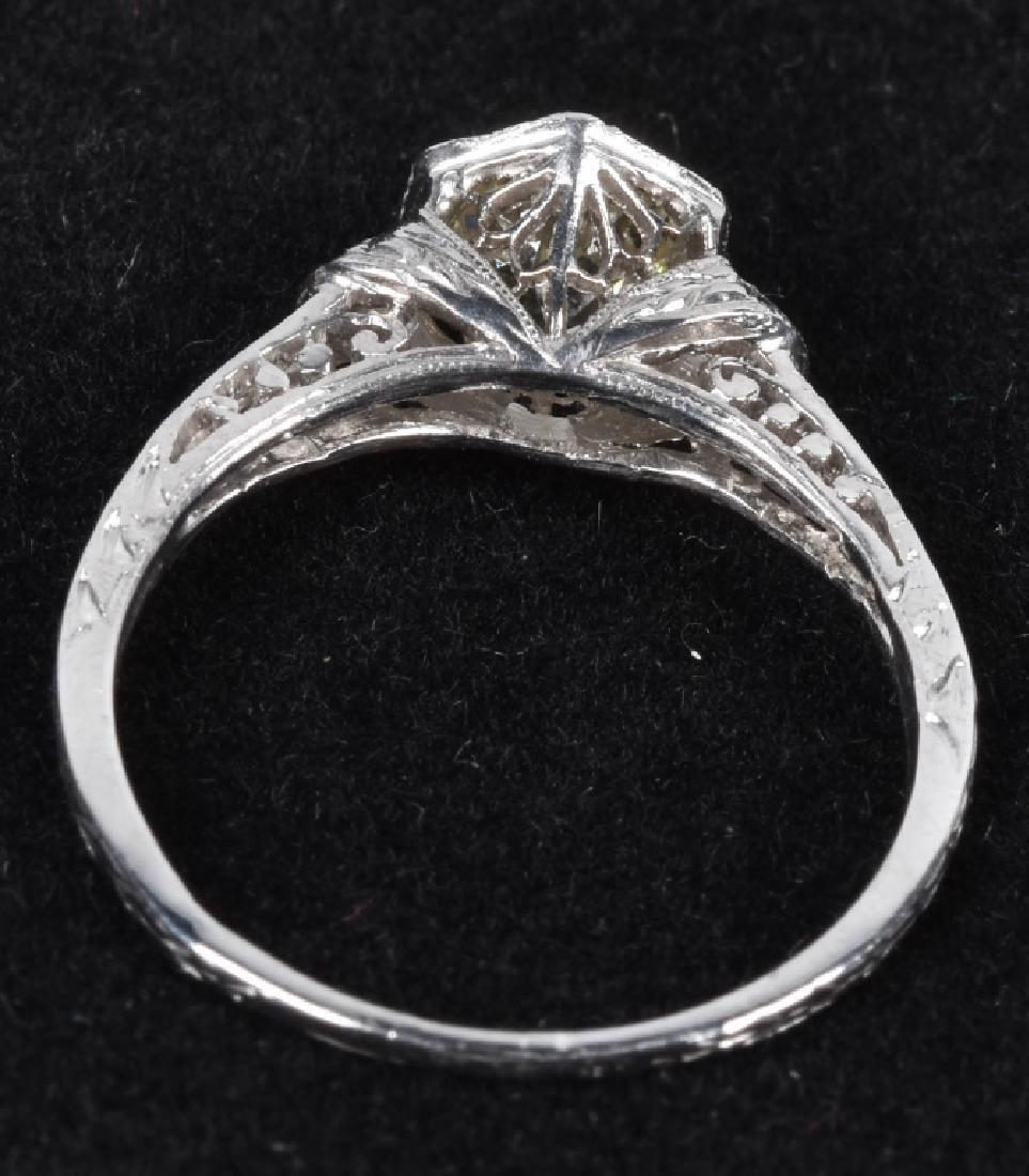 18kt GOLD EDWARDIAN FILIGREE 3/4CT DIAMOND RING - 2