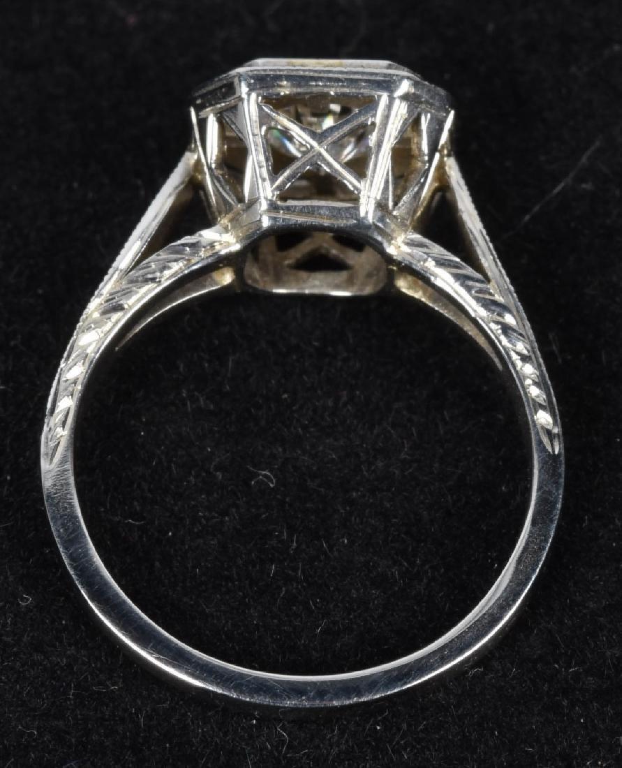 ART DECO STYLE 18kt GOLD DIAMOND ENGAGEMENT RING - 2