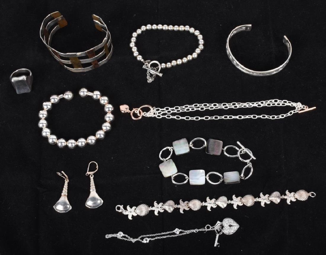 5 DESIGNER SIGNED STERLING SILVER JEWELRY
