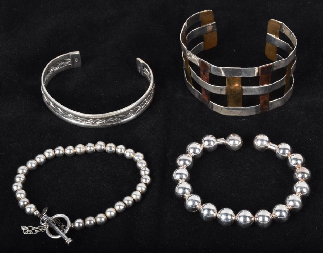 5 DESIGNER SIGNED STERLING SILVER JEWELRY - 2