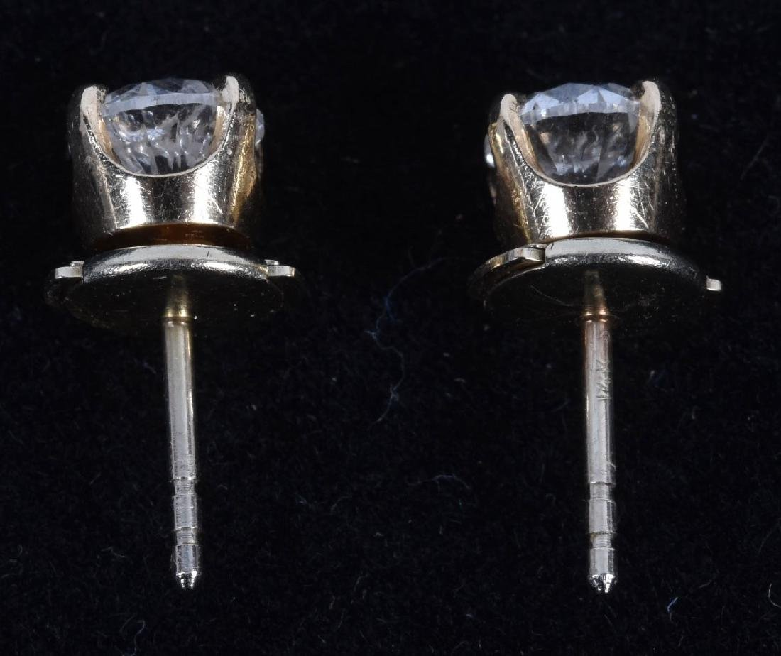 14kt 1.0 ct TCW PAIR OF DIAMOND EARRINGS - 2