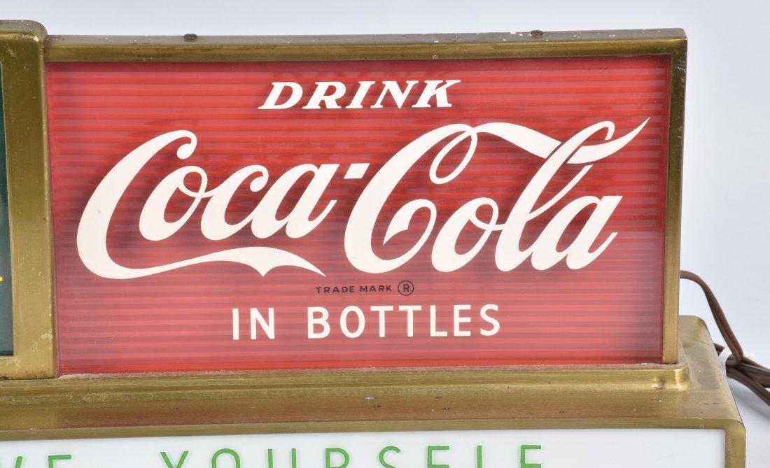COCA COLA COUNTER ADVERTISING CLOCK, VINTAGE - 3
