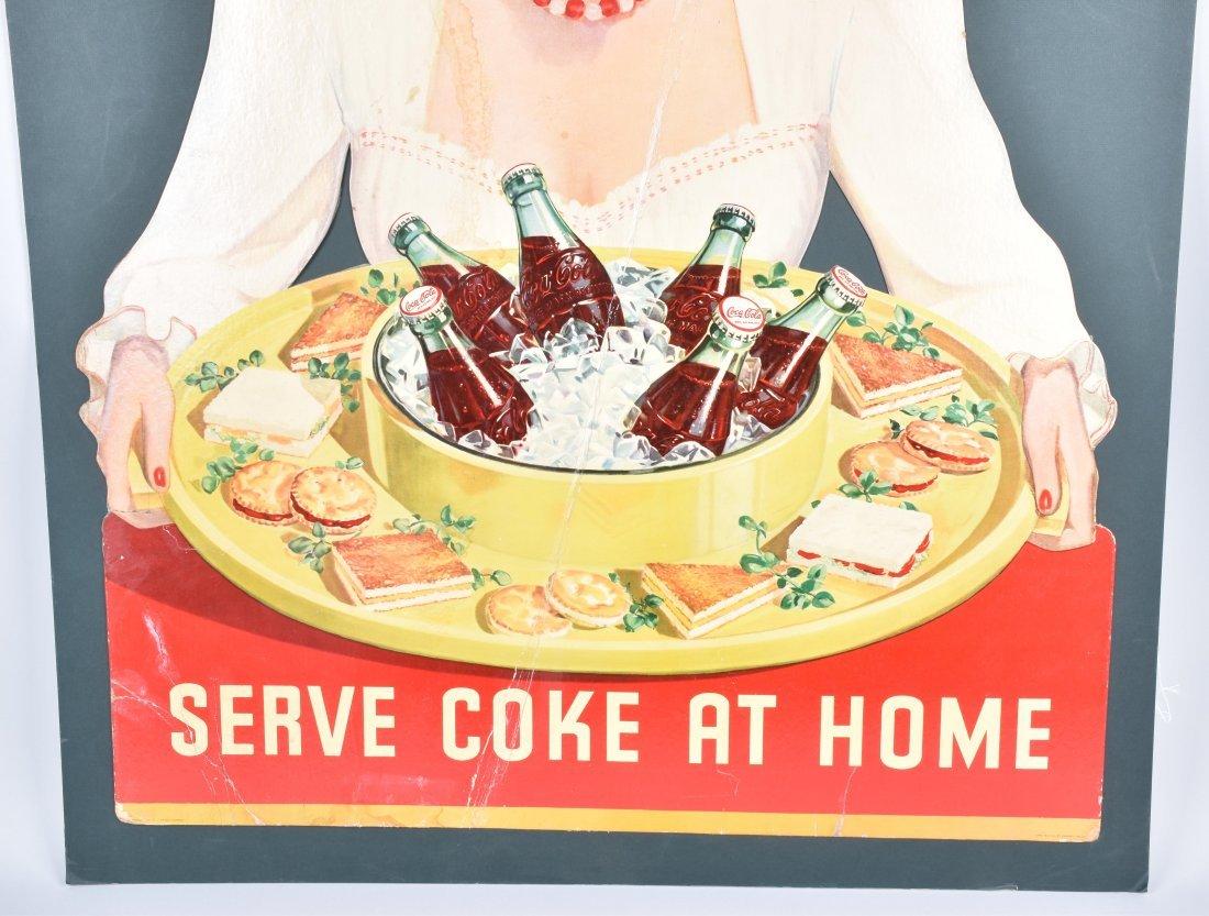 COCA COLA SERVE COKE AT HOME POSTER, VINTAGE - 3