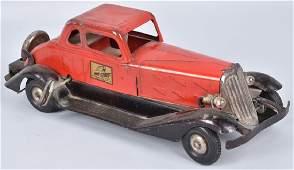 HOGE TIN WINDUP FIRE CHIEF CAR