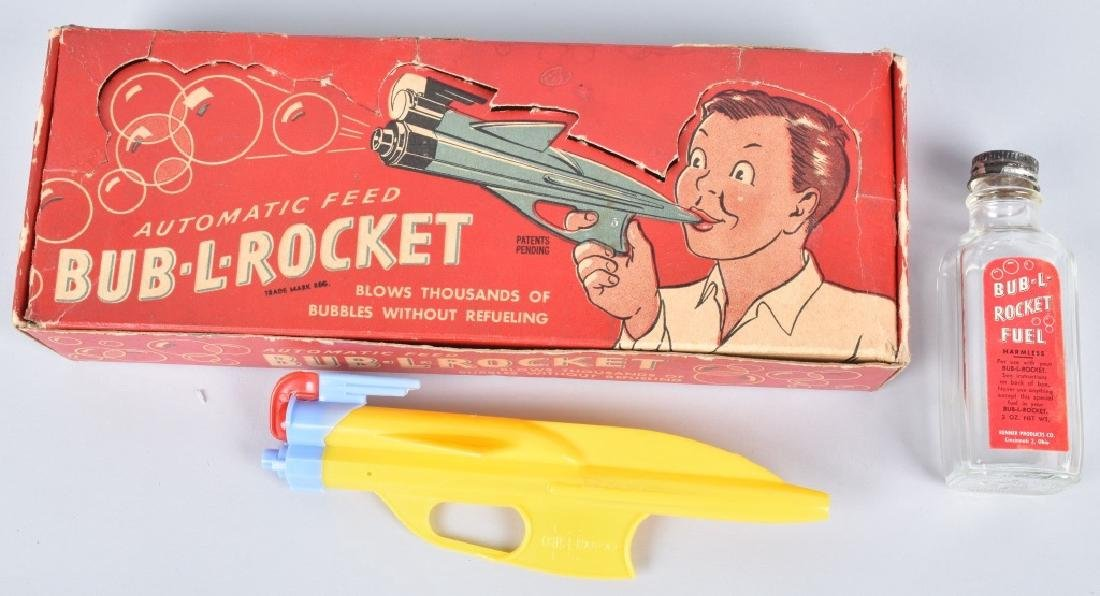 KENNER BUB-L-ROCKET SPACE GUN w/ BOX