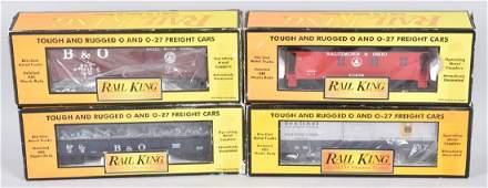 4 MTH RAIL KING TRAIN CARS MIB