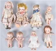 LOT OF SMALL BISQUE DOLLS