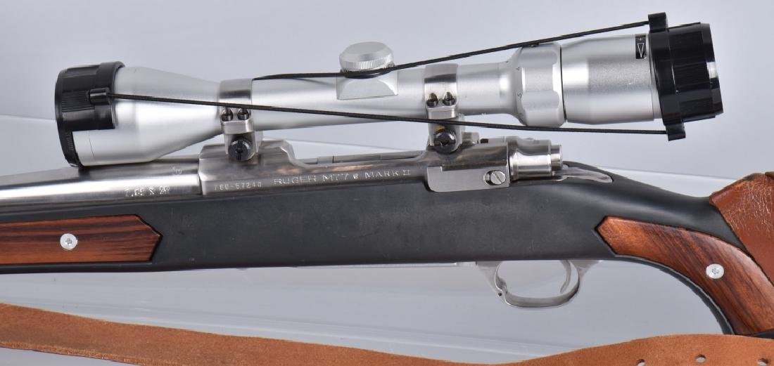 RUGER M77, 7.62 x 39 BOLT ACTION RIFLE - 8