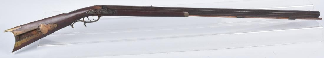 1850's PERCUSSION .34 HALF STOCK RIFLE