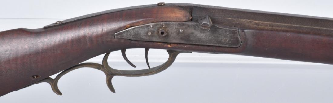 1850's PERCUSSION .34 HALF STOCK RIFLE - 2