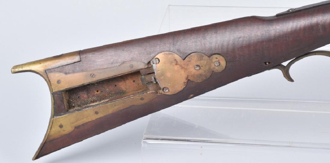 1850's PERCUSSION .34 HALF STOCK RIFLE - 3