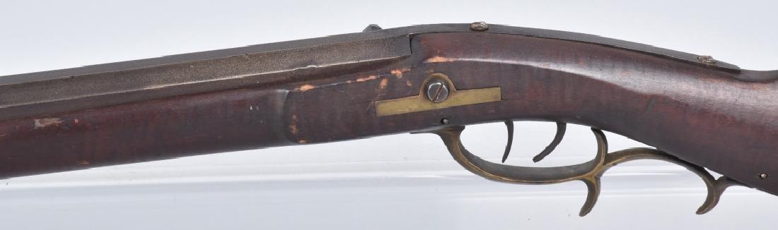 1850's PERCUSSION .34 HALF STOCK RIFLE - 6