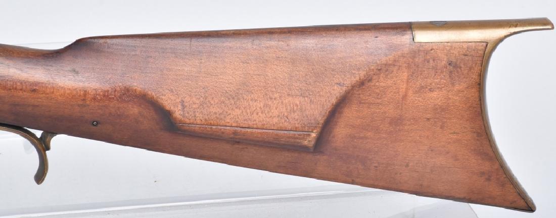 1850's PERCUSSION .34 HALF STOCK RIFLE - 7
