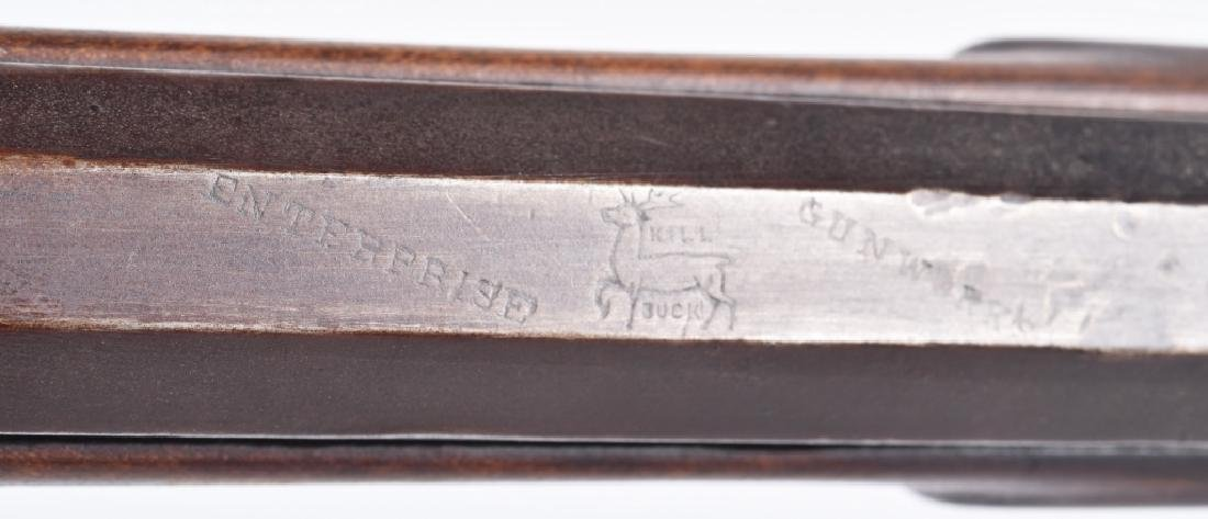 1850's PERCUSSION .34 HALF STOCK RIFLE - 9