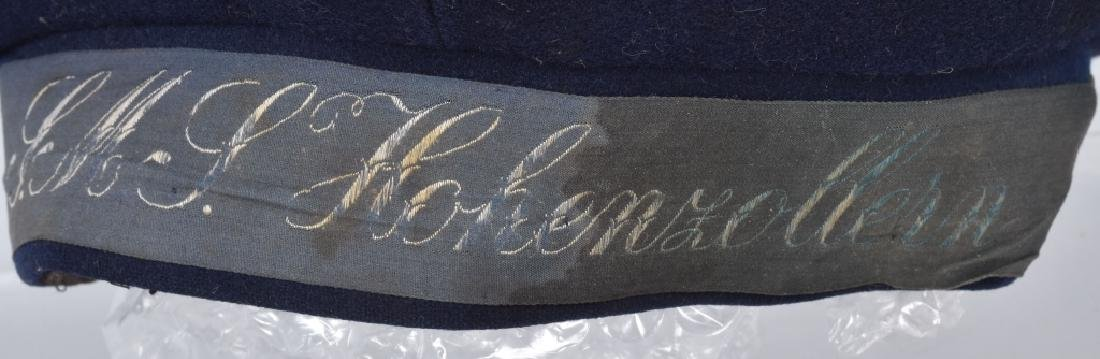 IMPERIAL GERMAN NAVY SMY HOHENZOLLERN HAT - 3