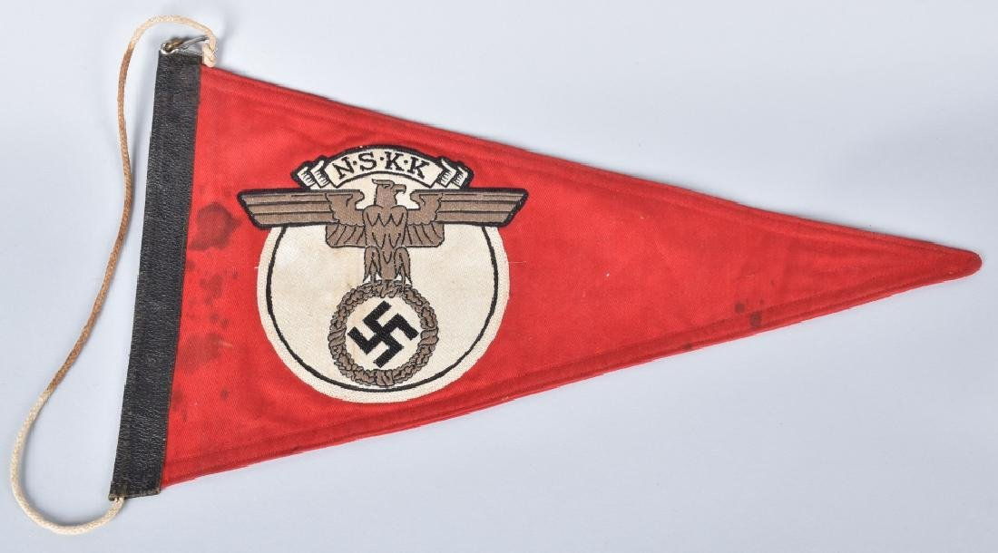 WW2 NAZI GERMAN NSKK CAR PENNANT