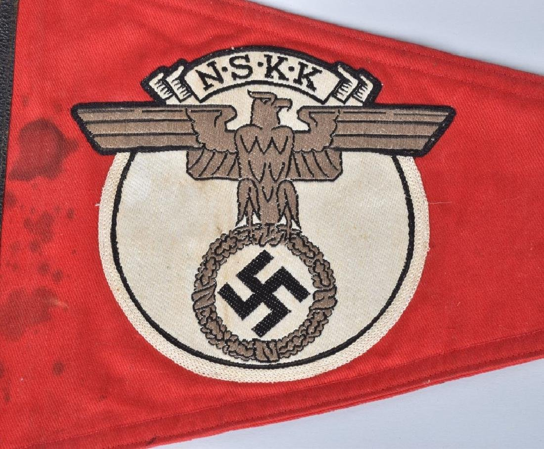 WW2 NAZI GERMAN NSKK CAR PENNANT - 2