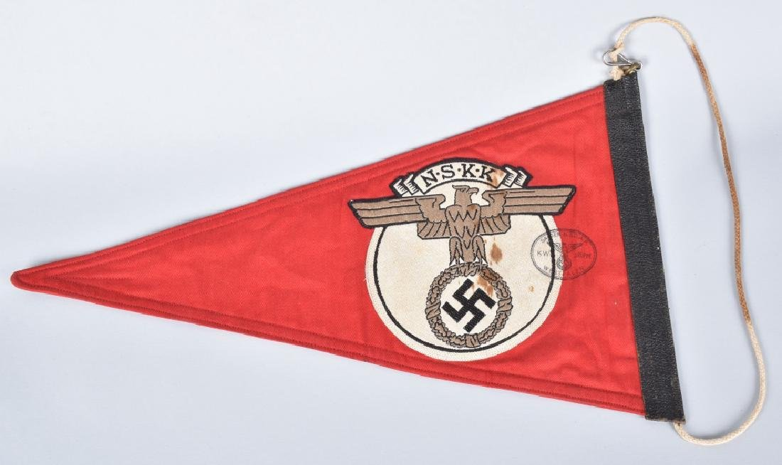 WW2 NAZI GERMAN NSKK CAR PENNANT - 3