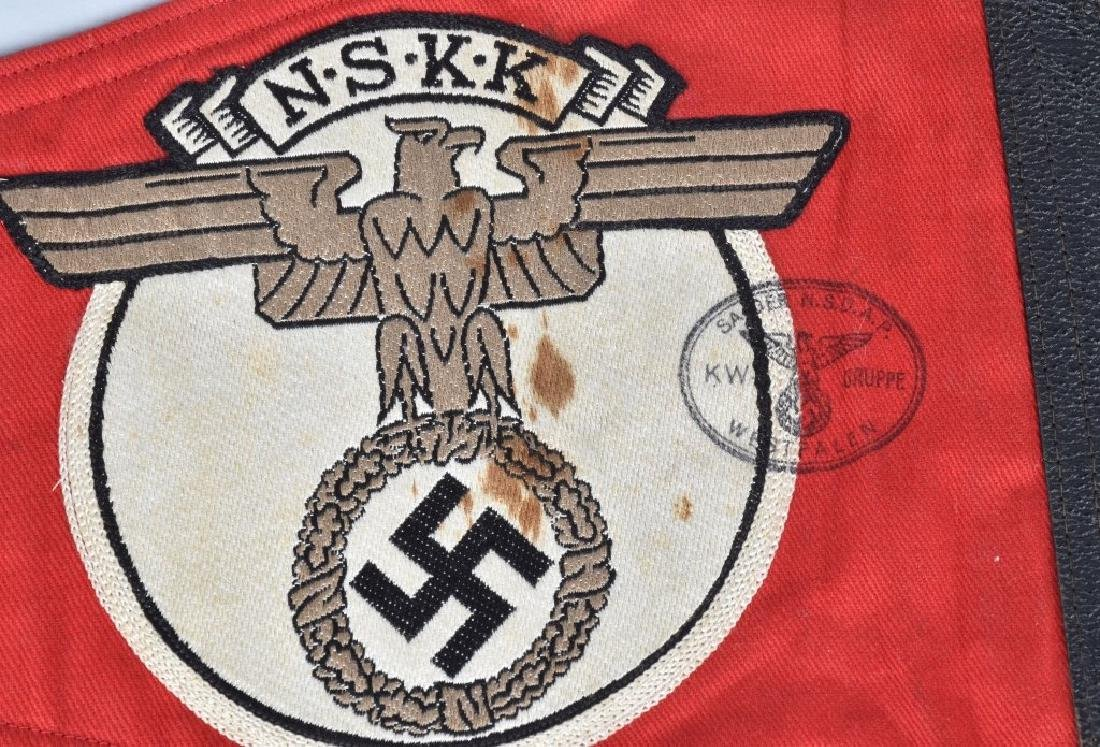 WW2 NAZI GERMAN NSKK CAR PENNANT - 4