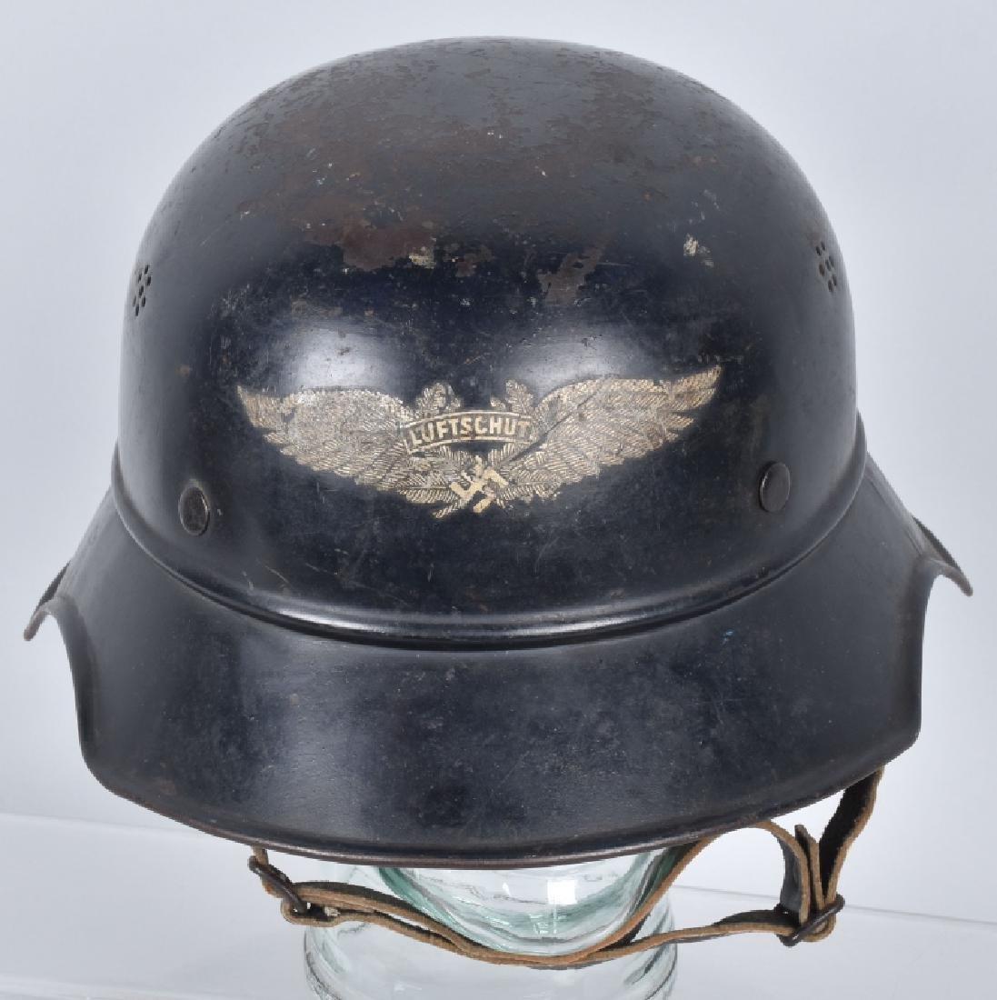 WW2 NAZI GERMAN LUFTSCHUTZ HELMET - 4