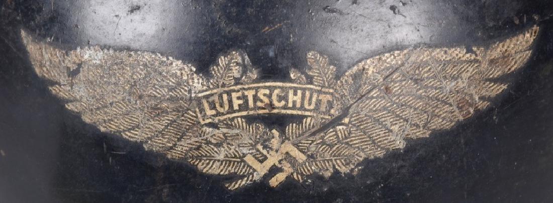 WW2 NAZI GERMAN LUFTSCHUTZ HELMET - 5
