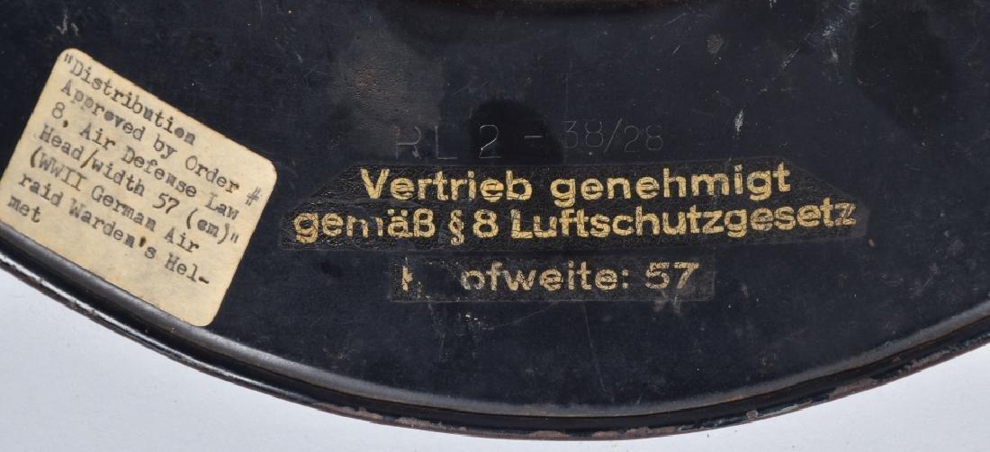 WW2 NAZI GERMAN LUFTSCHUTZ HELMET - 7