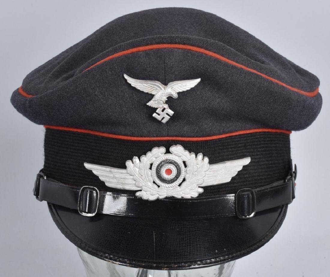 WW2 NAZI GERMAN LUFTWAFFE VISOR HAT - 4