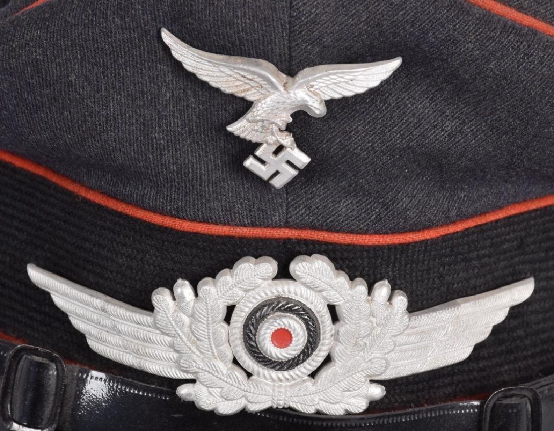 WW2 NAZI GERMAN LUFTWAFFE VISOR HAT - 5
