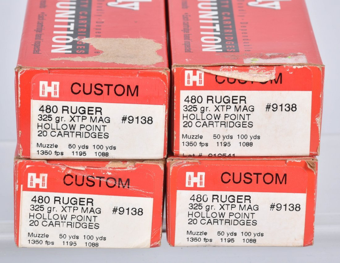80 ROUNDS 480 RUGER AMMO - 2