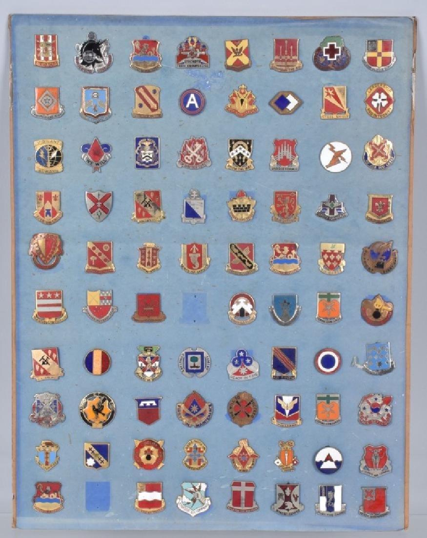 78-U.S. MILITARY UNIT ENAMELED LAPEL PINS