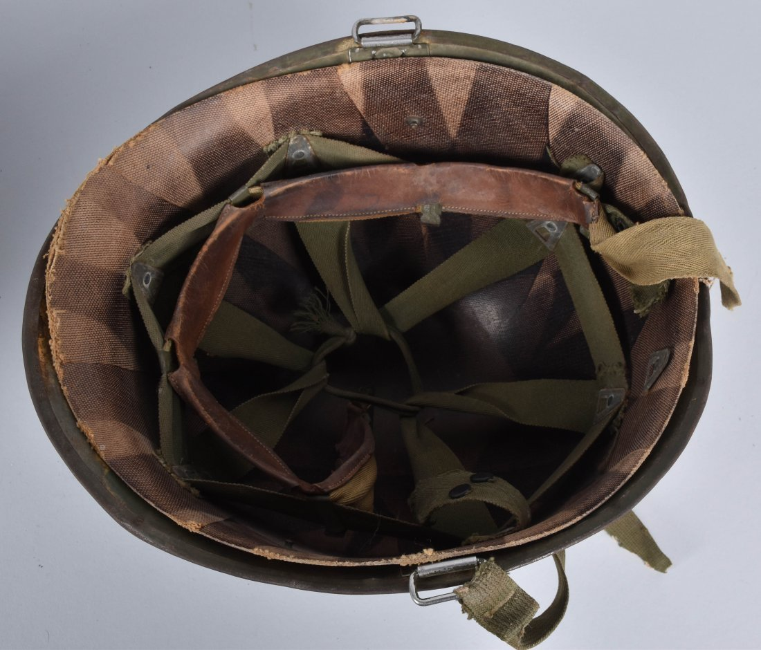 WW2 U.S. CAPTAINS HELMET and LINERS - 3