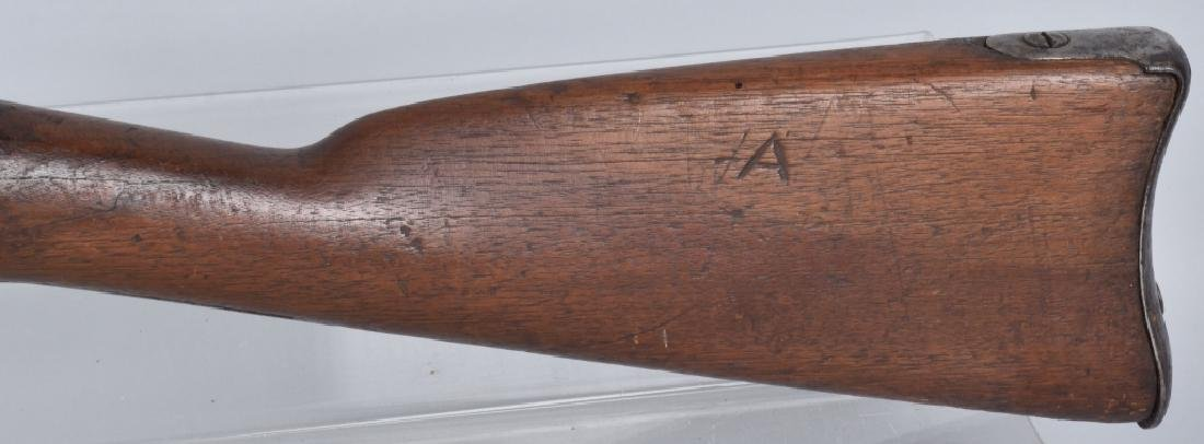 CIVIL WAR .58 2 BAND RIFLE, STAMPED FAYETTEVILLE - 9