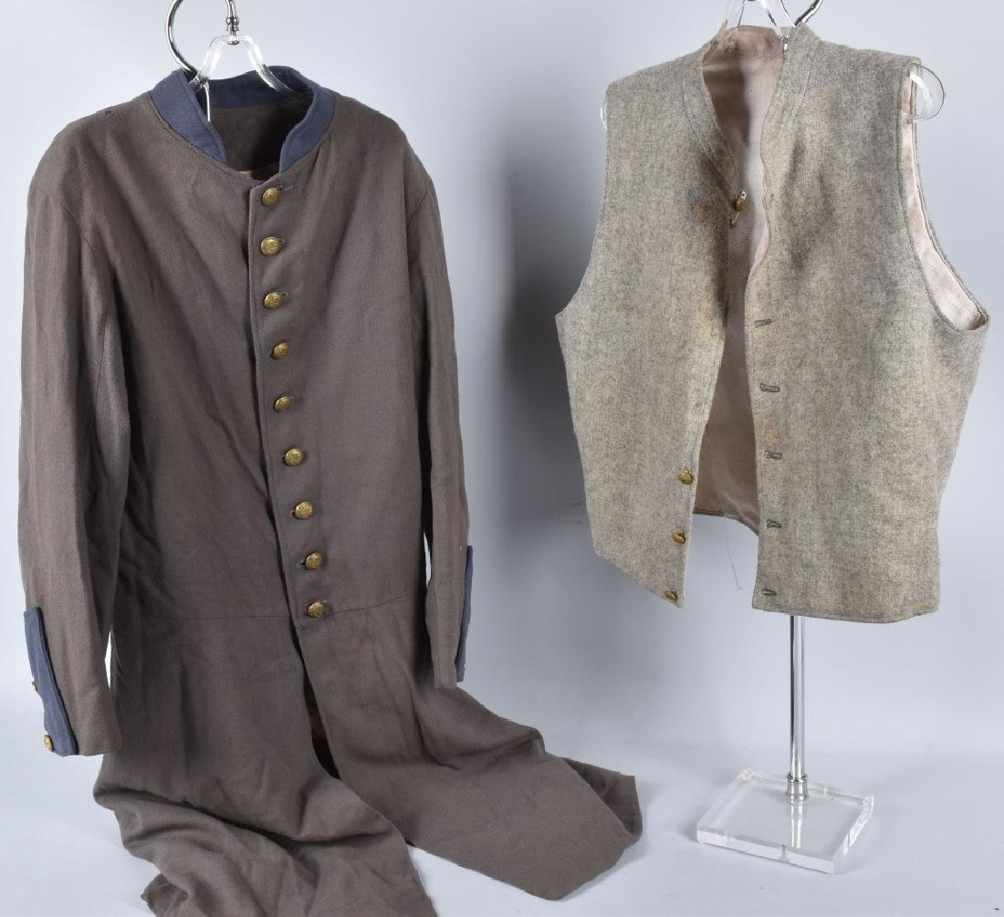 CONFEDERATE UCV or EARLY RE-ENACTOR TUNIC & VEST