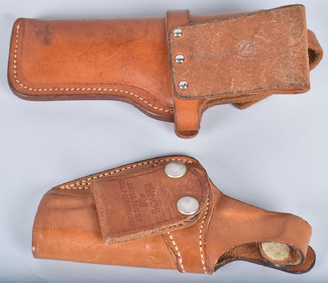 LOT 2 HOLSTERS and WOOD CHECKERED GRIPS - 2