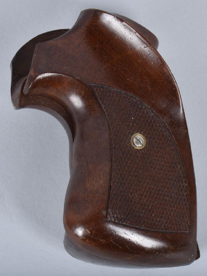 LOT 2 HOLSTERS and WOOD CHECKERED GRIPS - 4
